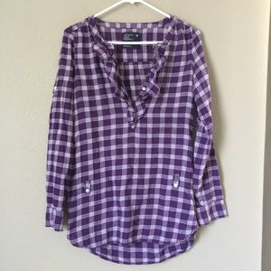 American Eagle Outfitters Purple plaid blouse sz 0